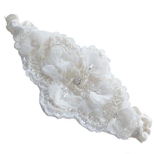 Handmade 'Dorada' Wedding Garter-0
