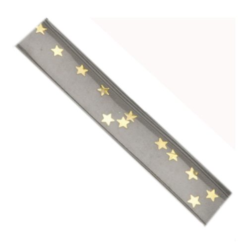 Clear Straps with Gold Star-0