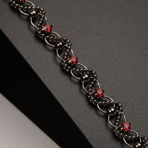 Silver & Red Gothic Style-0