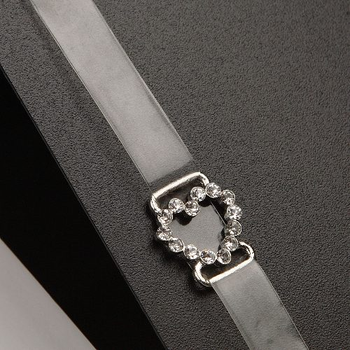 Clear Strap Diamante Heart-0