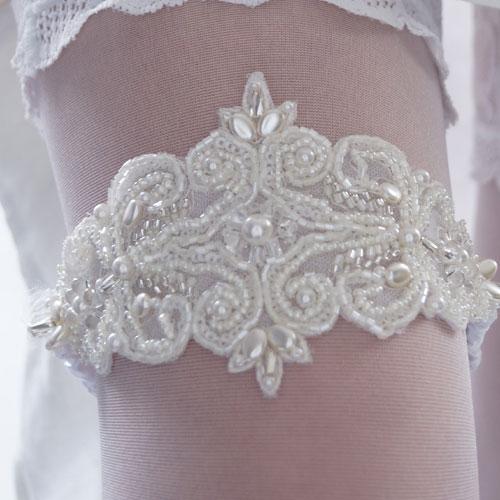 Handmade 'Giselle' Wedding Garter -856